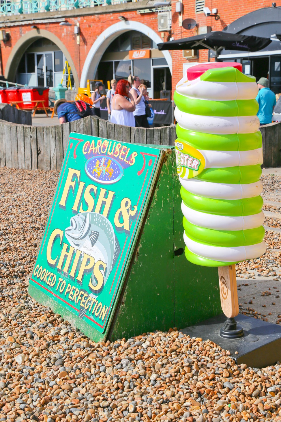 Fish and Chips Sign, Brighton, England