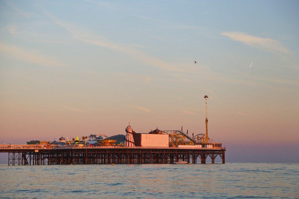 Brighton Pier at Sunset