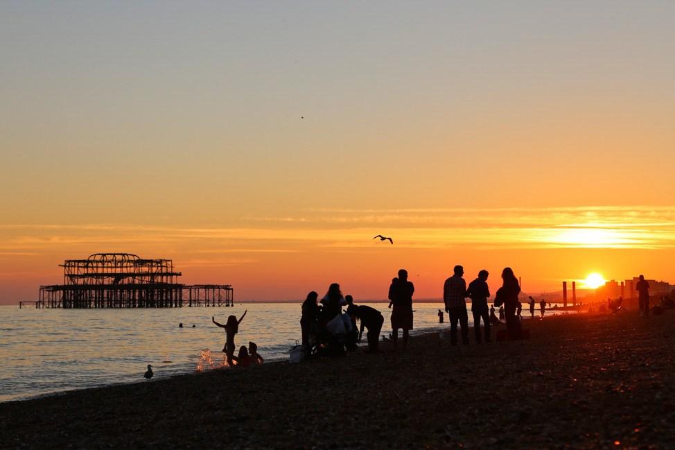 Brighton Pier at Sunsetv