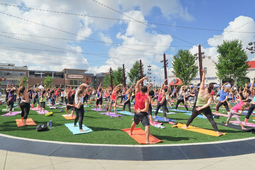 CorePower Yoga in the Park at Rosemont Financial Park