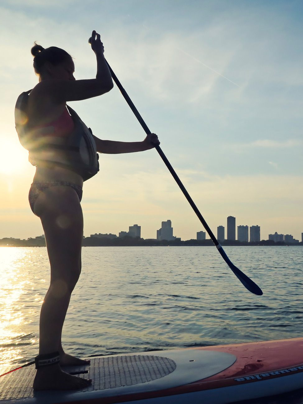 SUP Yoga Class at Montrose Beach, Chicago
