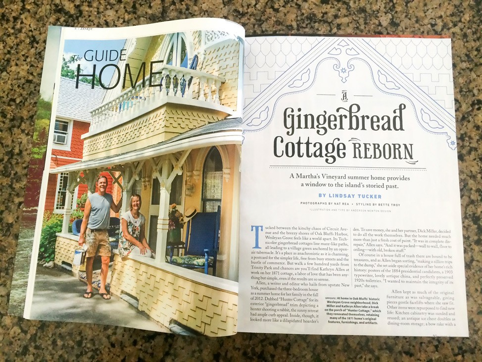 Martha's Vineyard Campmeeting Association Gingerbread Cottages Magazine Feature