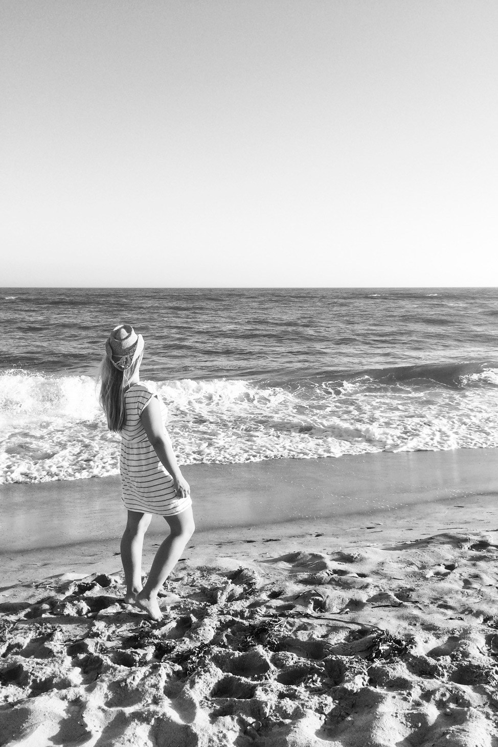 Marthas Vineyard Beach in Black and White