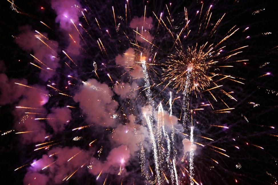 Fireworks at Ocean Park, Oak Bluffs, Martha's Vineyard