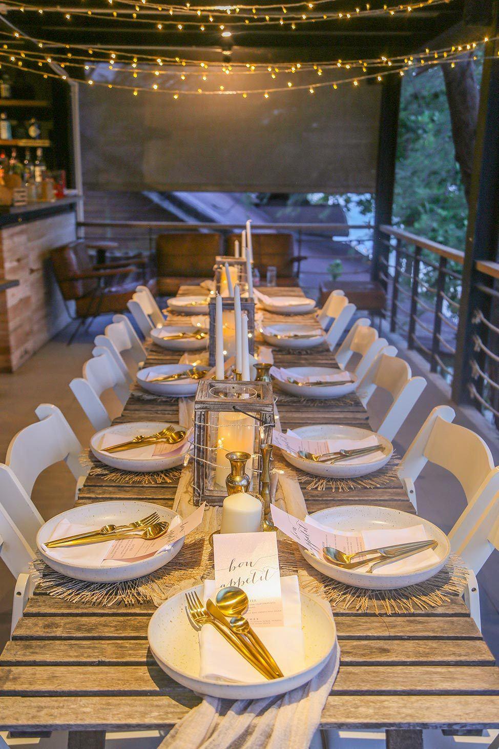 Farewell dinner at Wander Women Retreats, Koh Tao, Thailand