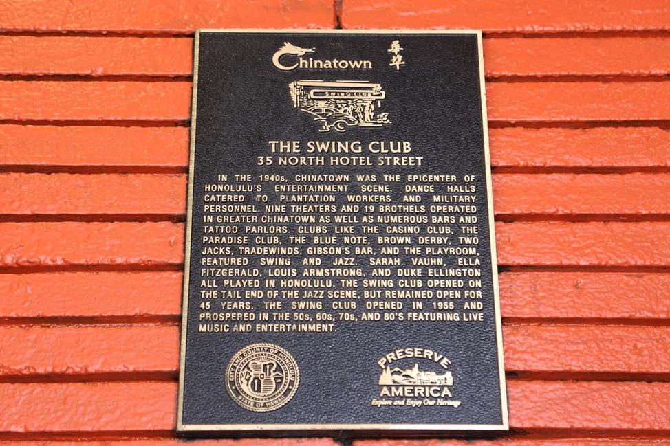 The Swing Club, Chinatown, Oahu