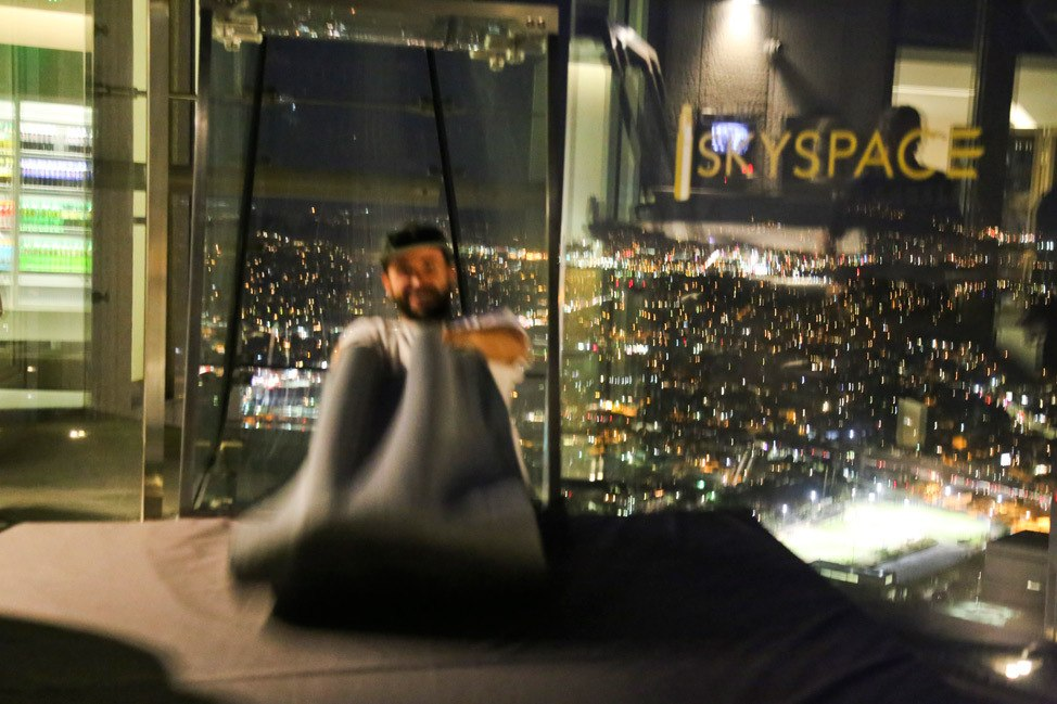 Slide at OUE Skyspace LA