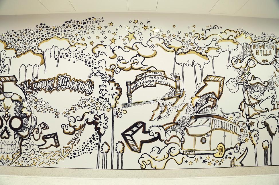 Mural at OUE Skyspace LA