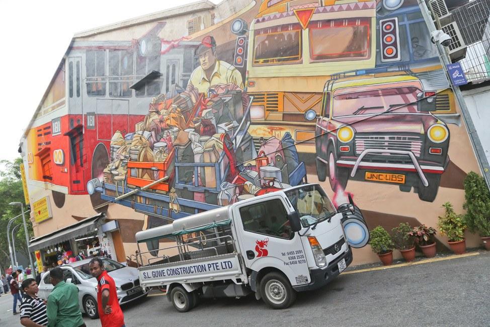 Street Art in Singapore's Little India