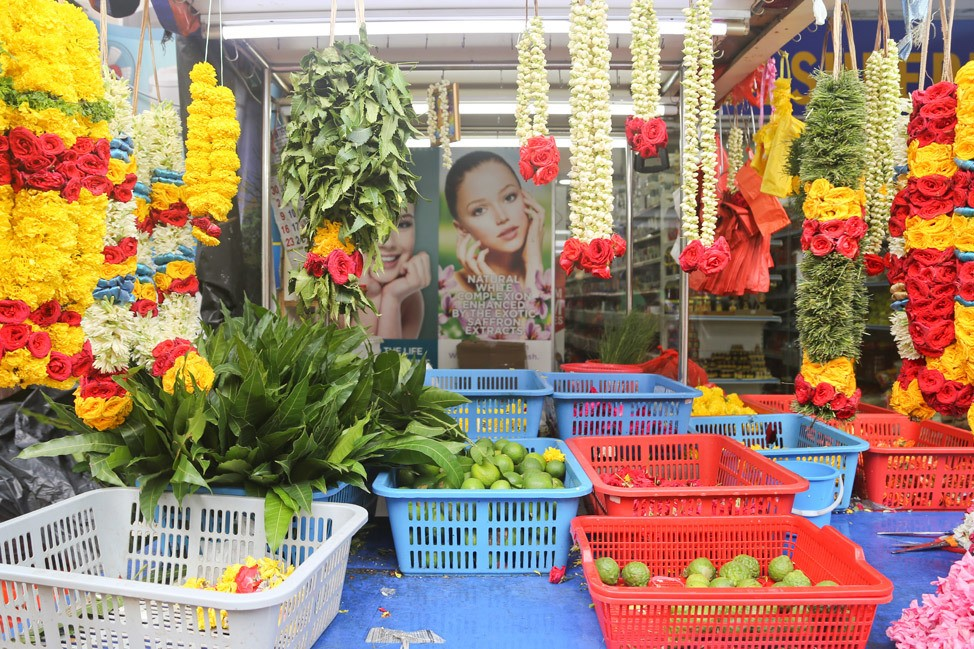 Flowers For Sale in Singapore's Little India