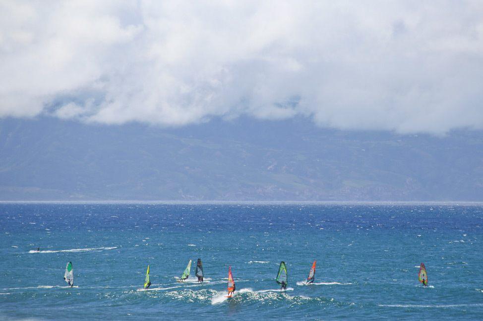 Windsurfing in Ho'okipa