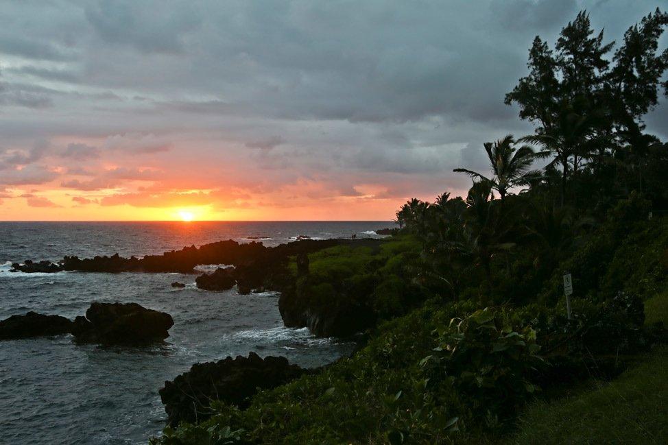 Sunset at Waianapanapa State Park