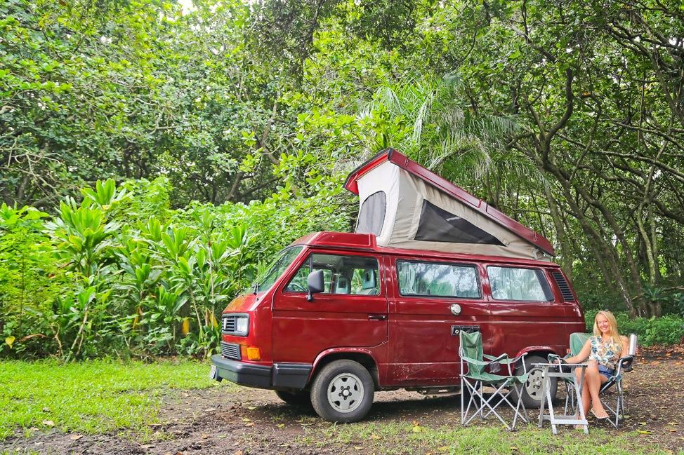Camping at Waianapanapa State Park