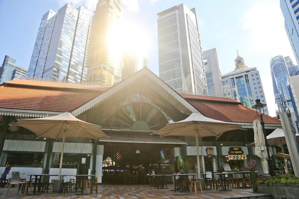 Lau Pa Sat Hawker Center Singapore
