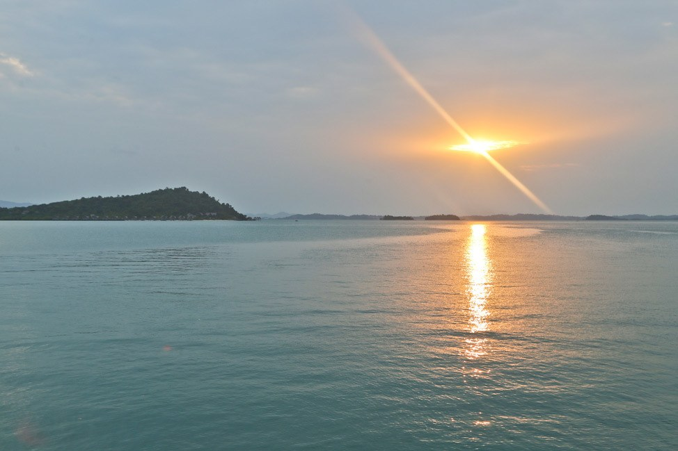 Telunas Beach Resort Sunset
