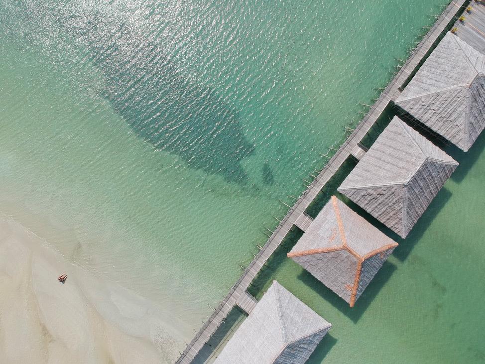 Telunas Beach Resort by DJI Spark Drone