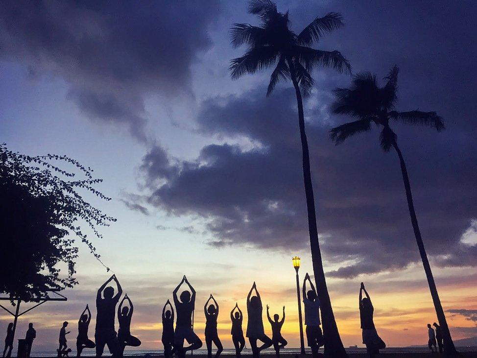 Sunset Yoga Hawaii