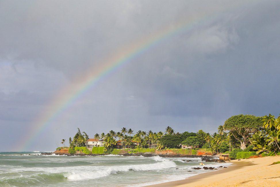 Rainbow at Baldwin Beach Park, Paia, Maui