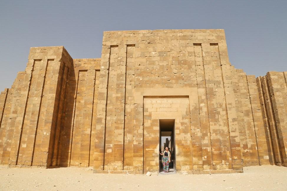 Temples of Saqqara in Egypt