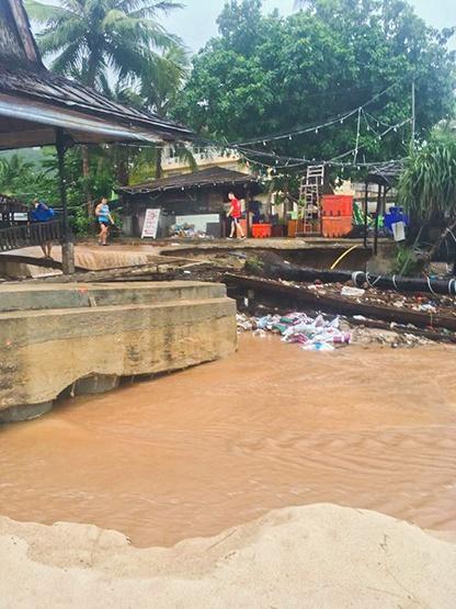 Koh Tao Flooding January 2017
