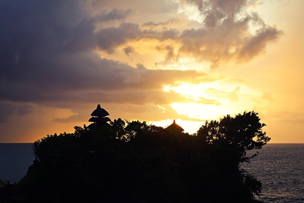 Sunset at Tanah Lot Temple