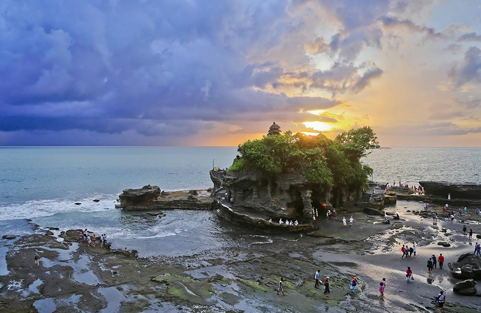 Sunset at Tanah Lot Temple, Bali