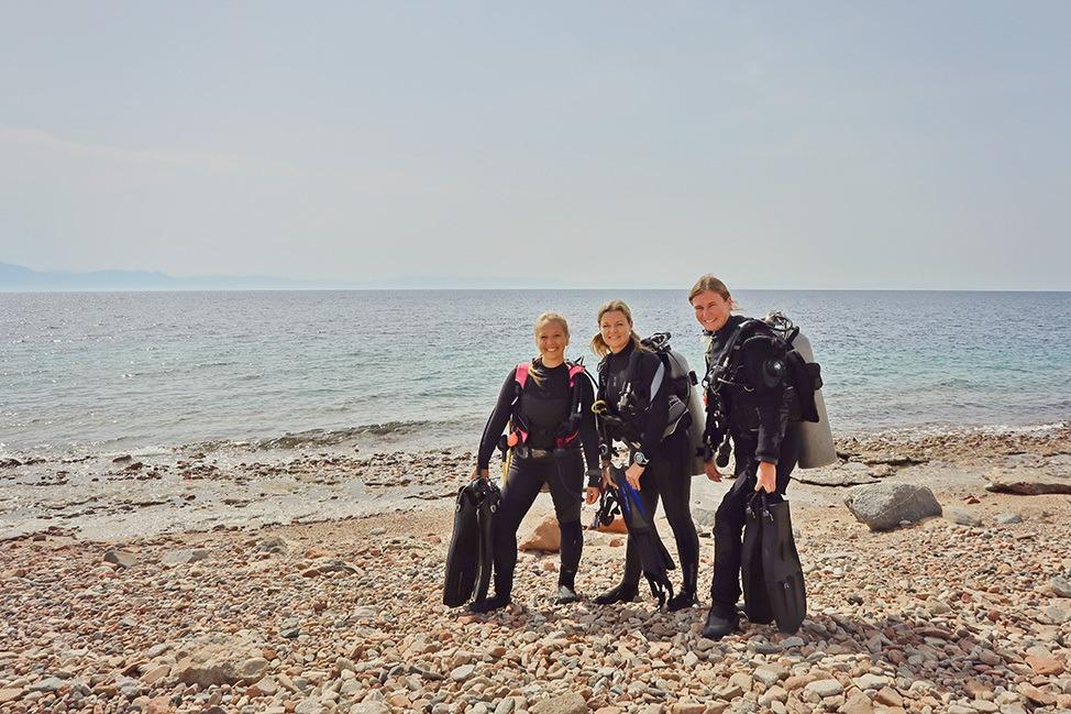 Diving with H2O Divers Dahab in Ras Abu Galum, Sinai, Egypt