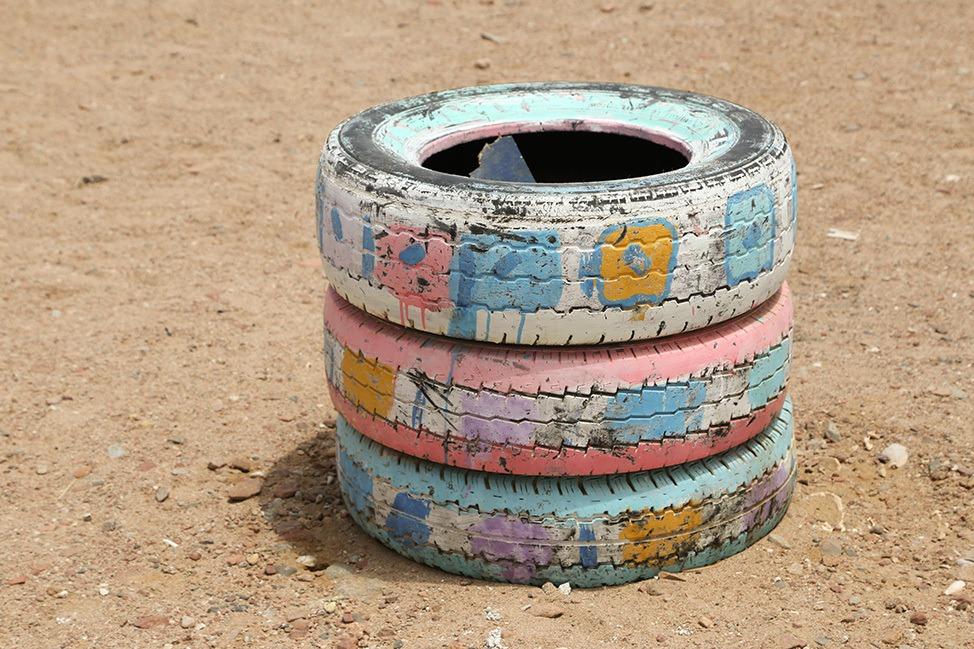 Tires in Ras Abu Galum, Egypt