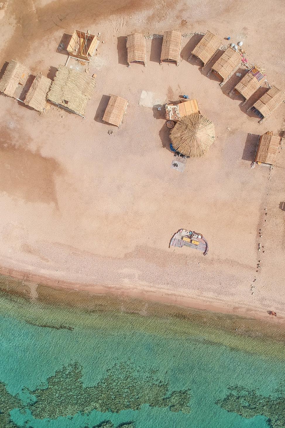 Drone Aerial View of Ras Abu Galum, Sinai, Egypt