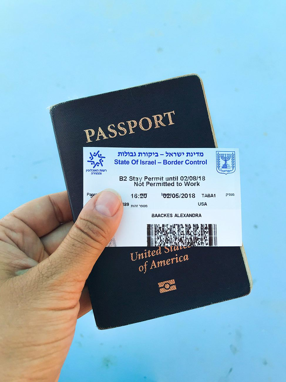Israeli Passport Card