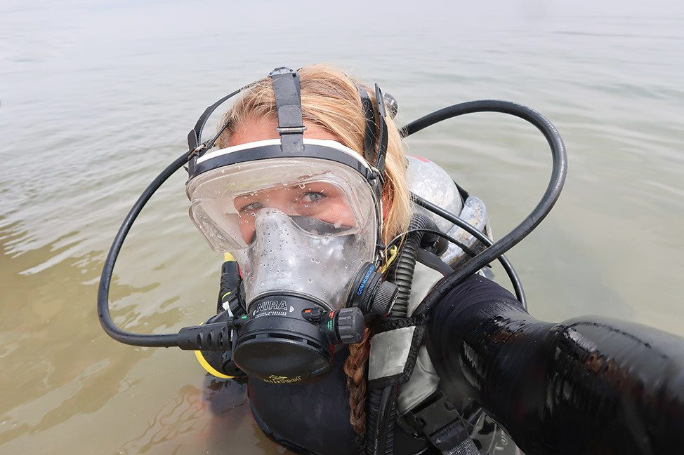Diving in the Dead Sea