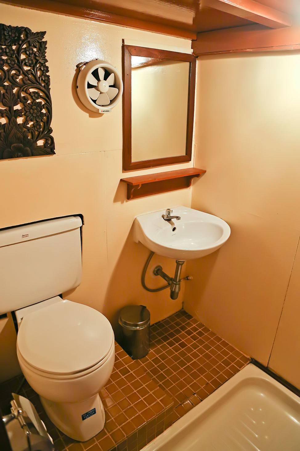 Bathroom on the Mekhala River Cruise from Bangkok to Ayutthaya, Thailand