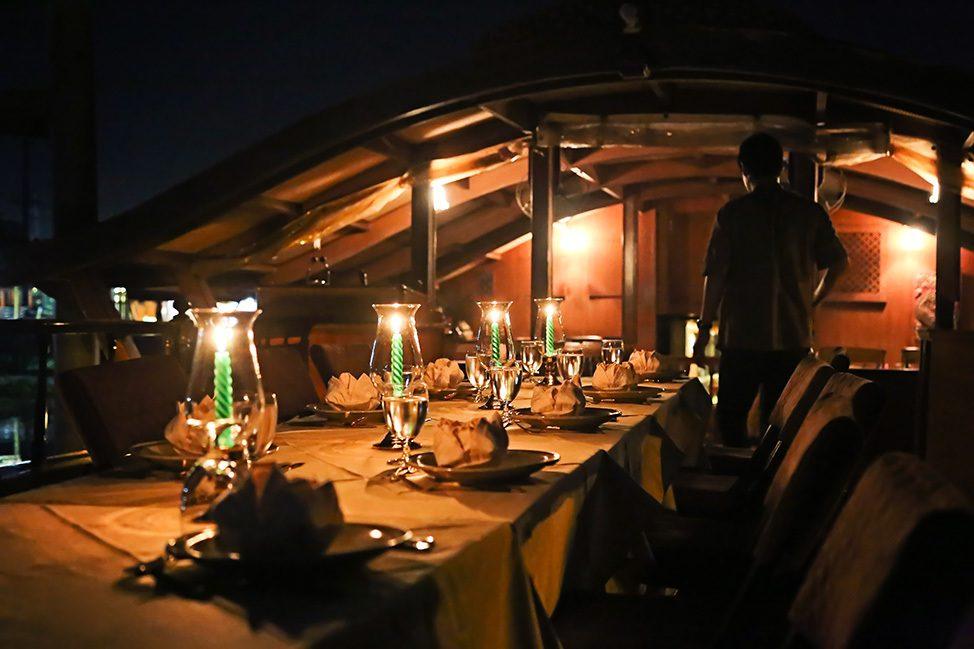 Dinner on the Mekhala River Cruise from Bangkok to Ayutthaya, Thailand