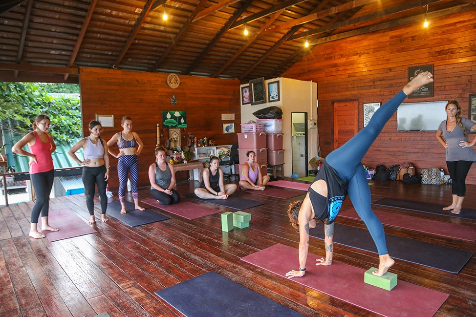 Inversions Workshop at Wander Women Dive and Yoga Retreats, Koh Tao, Thailand