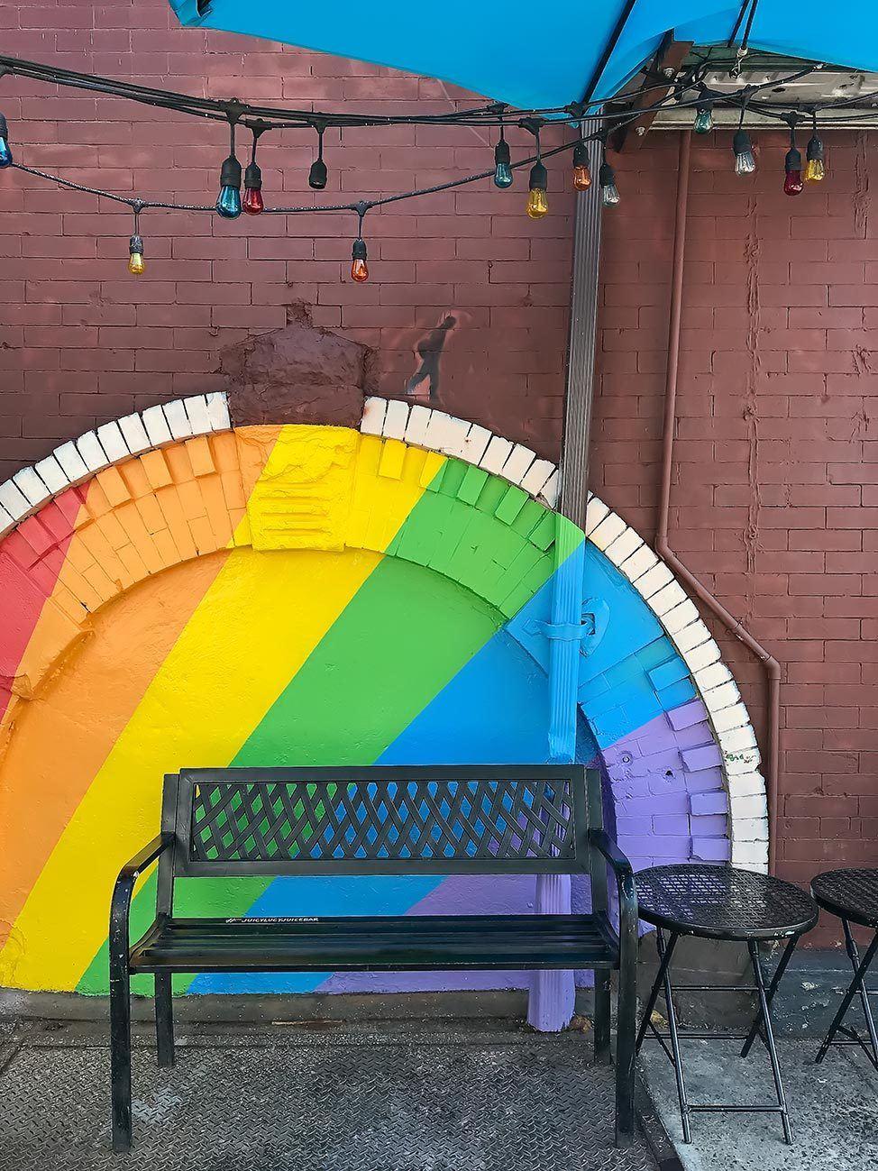 Rainbow mural, NYC