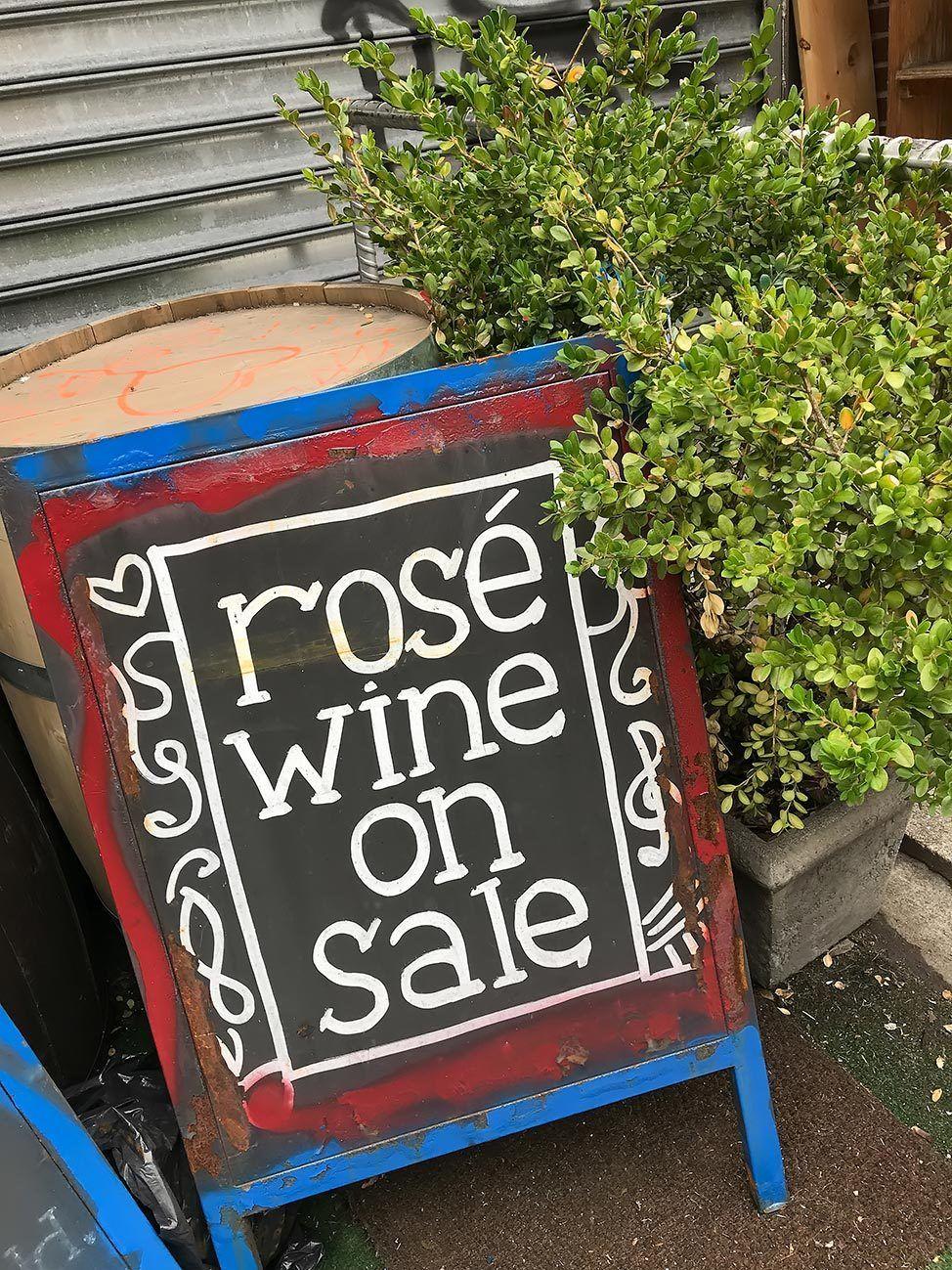 Rose wine on sale