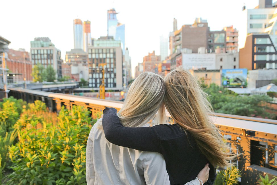 Family portraits at The Highline in NYC