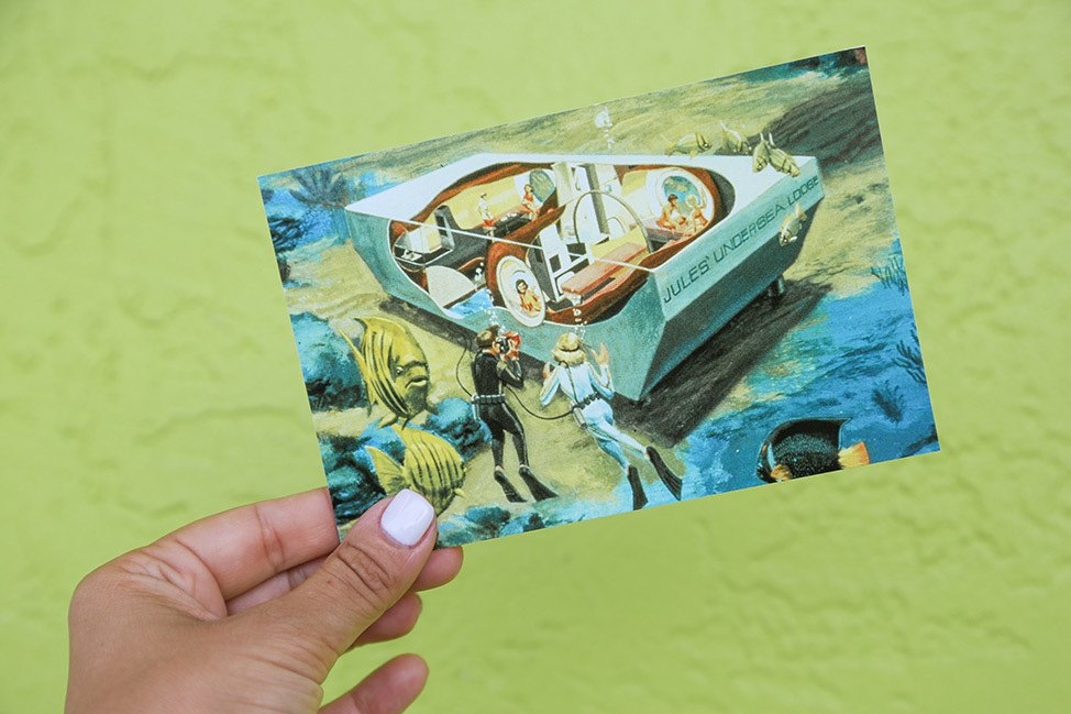 Postcard from the Jules Undersea Lodge in Key Largo, Florida
