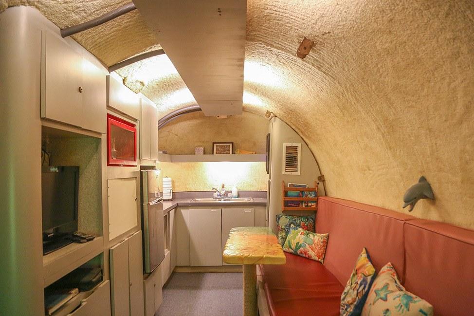 Kitchen at Jules Undersea Lodge in Key Largo, Florida