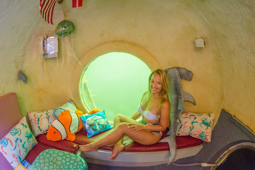 Common Area and Galley at Jules Undersea Lodge in Key Largo, Florida