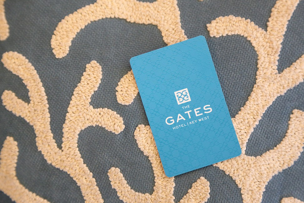Room Key at The Gates Hotel Key West
