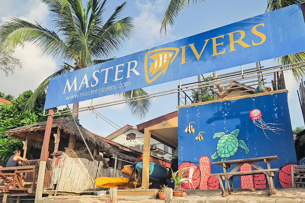 Diving with Master Divers in Koh Tao, Thailand