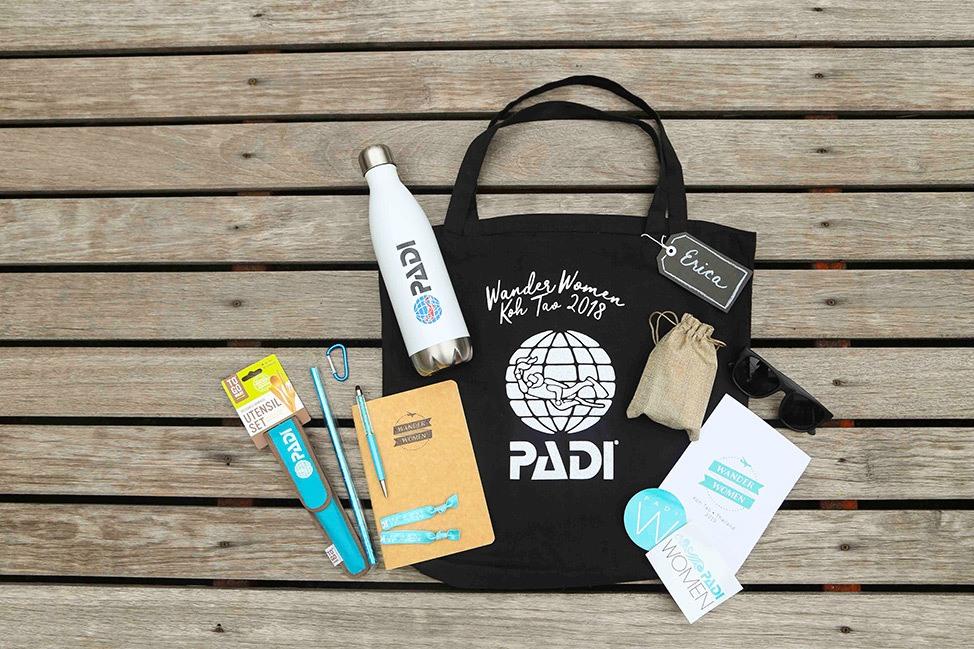Wander Women PADI Diving Retreat Gift Bag