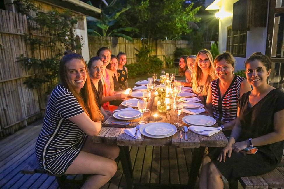 Villa Dinner at Wander Women Retreats