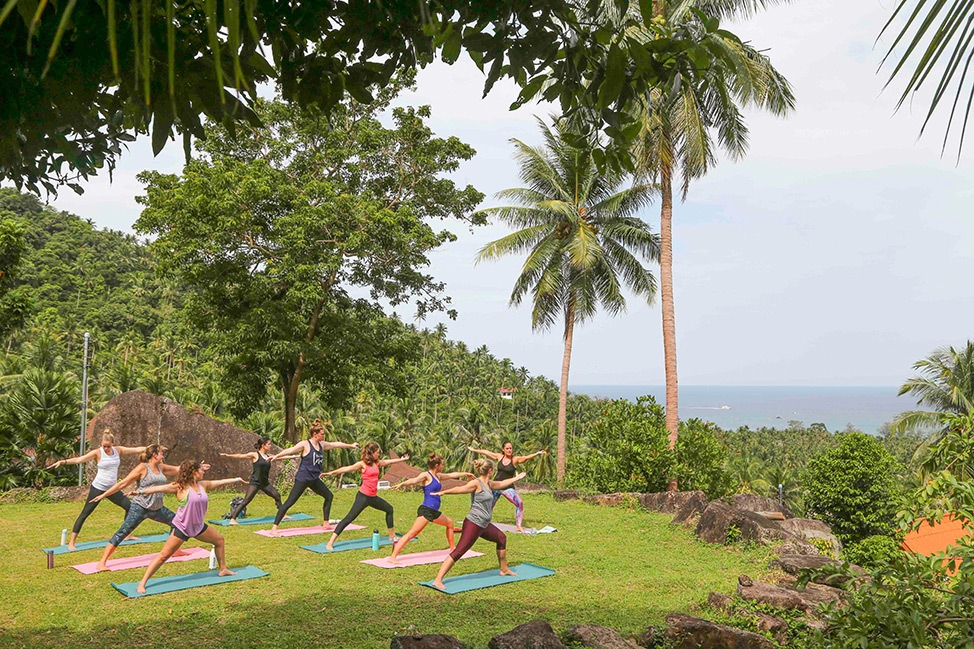 Yoga at Wander Women Dive and Yoga Retreats, Koh Tao, Thailand