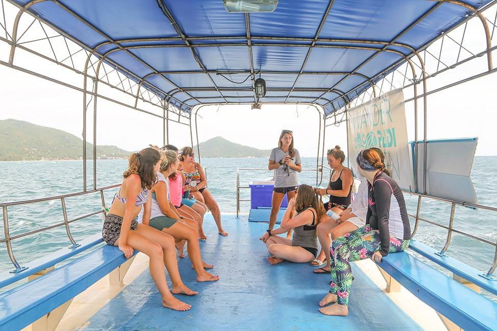 Dive Briefing at Wander Women Dive and Yoga Retreats, Koh Tao, Thailand