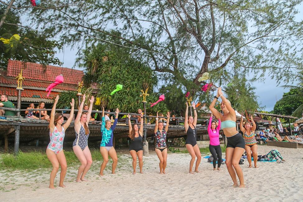 SUP Yoga at SUP Tao, Wander Women Retreats, Koh Tao, Thailand