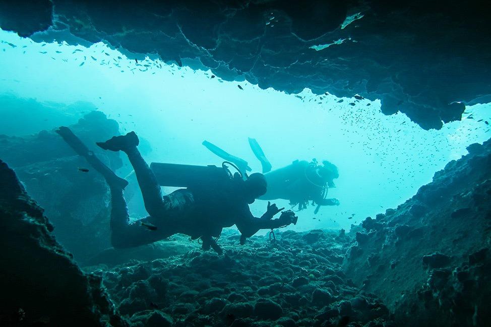 Diving at Red Rocks at Wander Women Dive and Yoga Retreats, Koh Tao, Thailand
