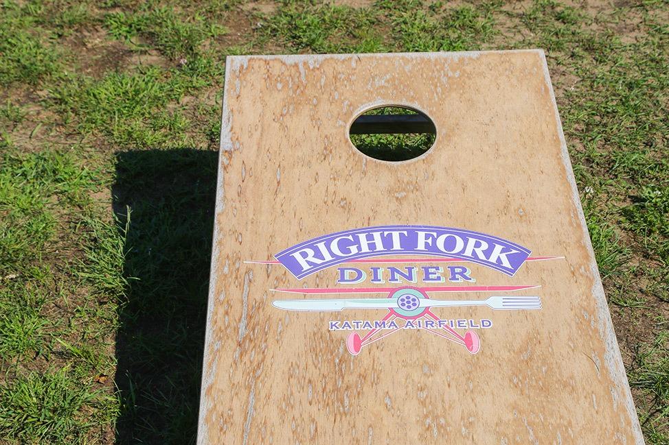 Cornhole at Right Fork Diner, Martha's Vineyard