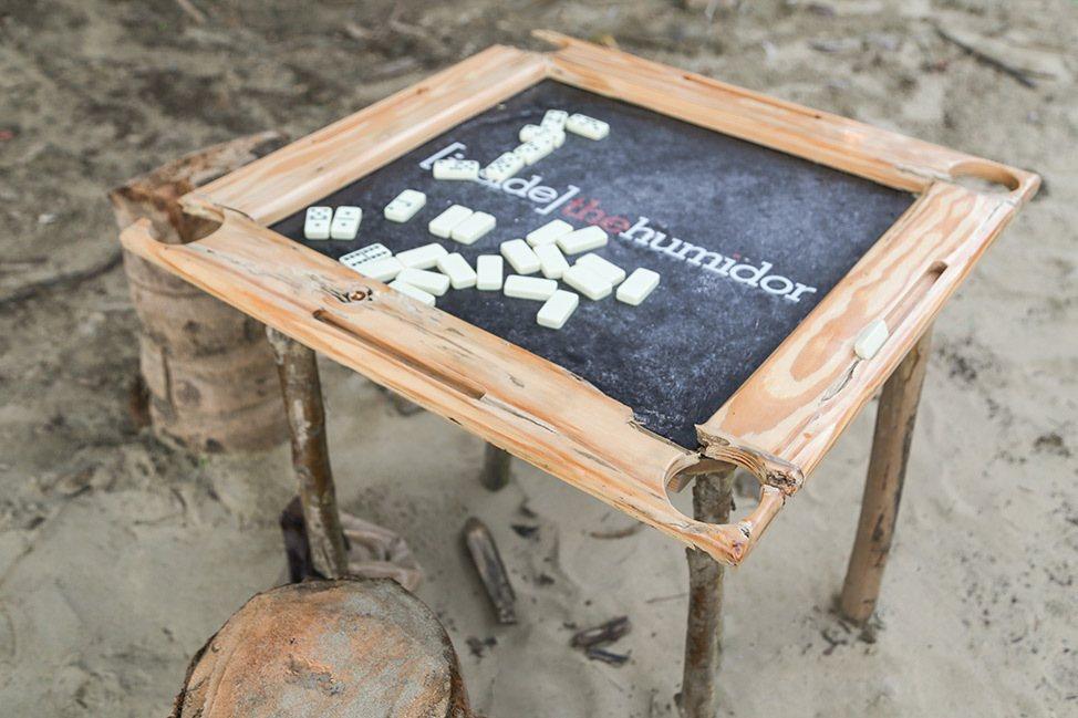 Dominos on the beach in Cabarete, Dominican Republic
